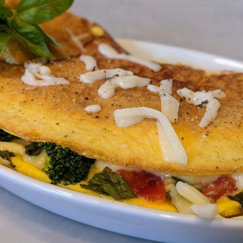 Vegetarian Caprese Omelet