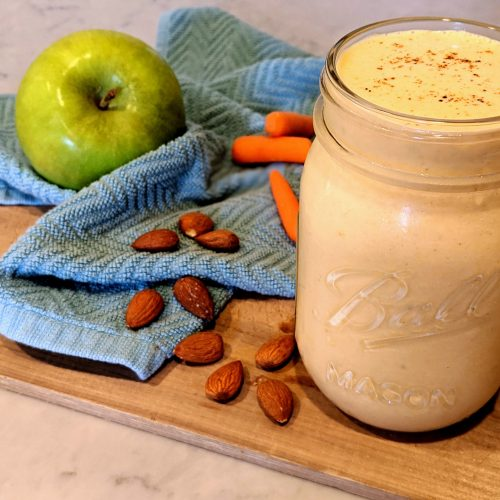 healthy carrot spice smoothie