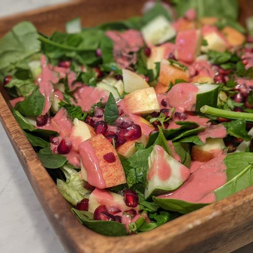 Fall Apple Pomegranate Salad