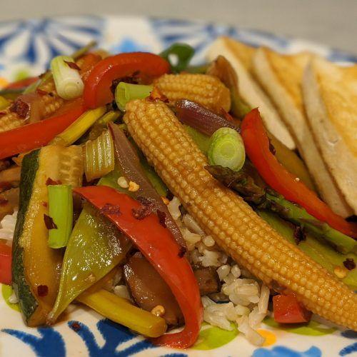 lightened-up szechuan stir fry