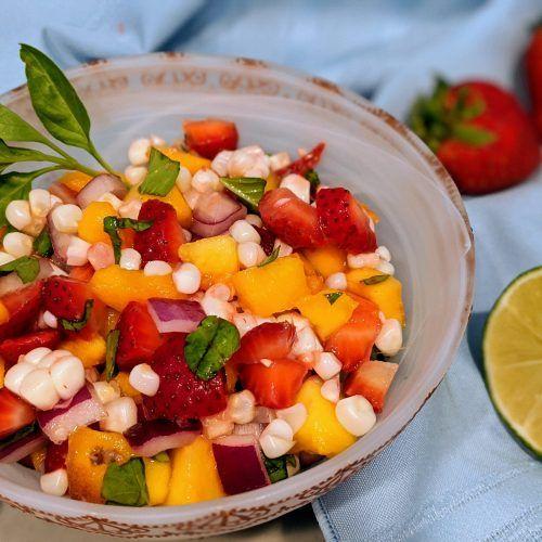 Strawberry Peach Summer Salsa